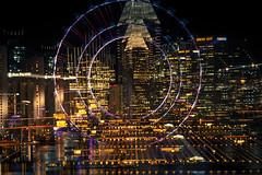 City on the Radar (elenaleong) Tags: longexposure singapore cityscape citylights singaporeflyer creativezoom cityradar