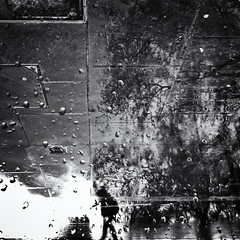 Little Man in a Big World (Fuji and I) Tags: street blackandwhite window rain mobilephotography alexarnaoudov