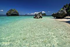 Island Escape (engrjpleo) Tags: travel sea seascape beach water rock landscape coast seaside outdoor philippines shore elnido palawan waterscape bacuitbay shimizuisland