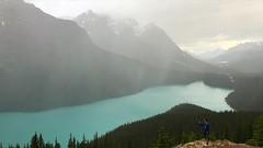 Raining at Peyto Lake (Col 3:2) Tags: park lake national banff peyto