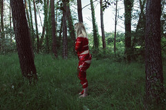 Red: 22/28. (SaraiDeza) Tags: wood red woman art nature beautiful forest nude photography photo fineart creative conceptual menstruation creativephotography conceptualphotography