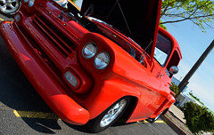 1959 Chevy (Chad Horwedel) Tags: red classic chevrolet illinois pickup chevy sterling truc 1959chevy sterlingmainstreet