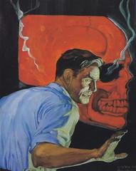 Robert Lesser / Pulp Art / Bild 30 (micky the pixel) Tags: art illustration painting buch skull book kunst docsavage pulp livre schdel pulpart robertlesser theredskull walterbaumhofer docsavagemagazine