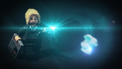 LEGO Luna Lovegood (Geertos13) Tags: rabbit bunny hare lego bricks luna spell torso custom vfx minifigure lovegood ravenclaw expecto patronum poppunkmunky