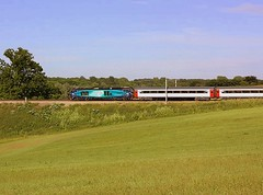 An early runner at Brantham (Chris Baines) Tags: point class norwich crown hornet 68 wolverton ecs drs brantham 68017