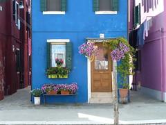 Burano... (FloDL) Tags: flowers venice italy window fleur italia couleurs venise venezia fentre linge italie faade burano balai fercheval balais