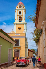 Bell Tower in Trinidad - Cuba (danielacon15) Tags: street old travel tower car outdoors photography colorful bell cuba streetphotography trinidad 2016