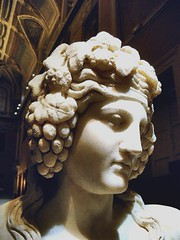 Ancient Rome. Dionysios crowned with grapes, 1st century AD (mike catalonian) Tags: sculpture detail head marble dionysios ancientrome
