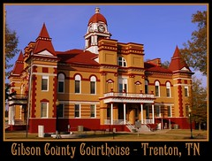 For Sale: TN Courthouse Postcard Collection: Gibson (SeeMidTN.com (aka Brent)) Tags: tennessee postcard courthouse trenton gibsoncounty bmok
