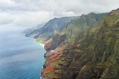 Coastline (MSargePhoto) Tags: blue hawaii coast helicopter kauai tours napali