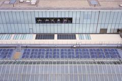 Tate Modern (colinpoe) Tags: 6x9 ektarlens mediumformat ektar100 cityscape kodakektarfilm solarpanels medalistii urban patterns london solar rooftop roof rangefinder kodakmedalist medalist urbanlandscape tatemodern 620 architecture