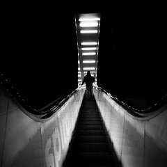 escalator (sparth) Tags: seattle blackandwhite monochrome blackwhite washington escalator photowalk wa seattlepubliclibrary spl washingtonstate ricoh escalier 2012 noirblanc carre ricohgrd grd4 bwsquare blackandwhitesquare ricohgrdiv blackwhitesquare grdiv ricohgrd4