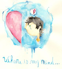 Where is my mind...3 (xLucas FernandezX) Tags: water colors cores paint lucas ilustrao ilustration desenho pintura ilustracion fernandez aquarela fernandes 48cores
