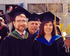 Trustee Sterling Blake '92, and Faculty Members Bob Engel and Jenny Ramstetter'81.