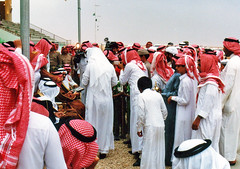 Saudi Prince Awarding Prizes To Winners Of A Camel Race (storm runner) Tags: saudiarabia