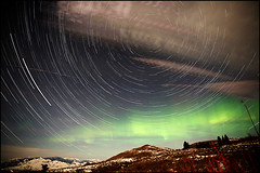 Star Trails and Auroras... Methow Style (Ed.Stockard) Tags: night stars washington winthrop wa methow northernlights startrails auroras methowvalley