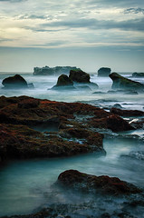 D7K_4304 (eggysayoga) Tags: bali beach rock indonesia nikon shore kit pantai slowspeed canggu cemagi 18105mm d7000 mengening