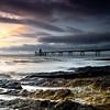 clevedon rocks archive (Scott Howse) Tags: uk sunset england sky water clouds coast pier rocks dusk tide somerset lee filters graduated clevedon 09h
