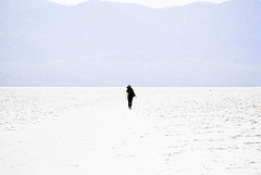 lowest point on earth (ma vie en rouge) Tags: california white silhouette angel nadia heaven deathvalley saltflats