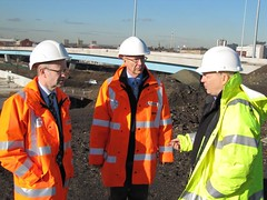"Touring the building site of what is now the M74 motorway extension • <a style=""font-size:0.8em;"" href=""http://www.flickr.com/photos/78019326@N08/6835757064/"" target=""_blank"">View on Flickr</a>"