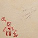 Robot and Rabbit love graffiti in the UIUC bookstacks
