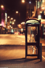 waiting for your call (Hadi Al-Sinan Photography) Tags: street night canon booth photography for interesting waiting call shot mark empty telephone leeds best explore your ii 5d hadi 70200mm alsinan alssinan