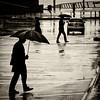 Rhythm of the rain (. Jianwei .) Tags: canada blur wet rain silhouette vancouver umbrella reflections square mood place walk candid 365 suv 马路 雨 伞 a500 jianwei 雨伞 kemily