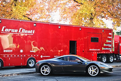 Trailer Queen (Andrew Cragin Photography) Tags: auto door new 2 italy cars beautiful beauty car race america canon eos rebel grey cool interesting italian automobile italia european grigio 5 connecticut rear spoke gray fast ct ferrari best na explore silverstone expensive caffeine rims rare exclusive fastest extraordinary v8 automobiles naturally canaan carburetors 458 2011 seater engined explored 200mph aspirated shutterspeedphotos