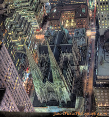 the roof of St Patricks Cathedral FORMS A CROSS!  COOL!! (Jason Pierce Photography) Tags: city newyorkcity roof cityscape cityscapes fromabove scape across 30rock saintpatrickscathedral theroof newyorkcityphotography nyccityscapes newyorkcitycityscapes jasonpiercephotography rooftography formsacross