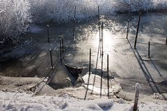 Dude, where's my boat? (Edwin van Nuil Photography) Tags: winter snow ice photowalk zwolle winterwonderland geocity exif:iso_speed=100 exif:focal_length=24mm exif:make=sony camera:make=sony geostate geocountrys exif:aperture=80 nex7 sonynex7 zeisssonnarte24mmf18za camera:model=nex7 exif:model=nex7 exif:lens=e24mmf18za