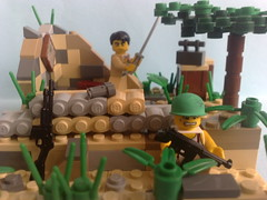 Battle of Saipan,1944 (-Aldin.) Tags: world two brick marine war lego arm battle american weapon division smg saipan m1a1 infatry