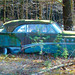 "This old car has seen better days. It sits off the road on the way to Yancy's sugar shack. It reminds me a bit of ""Doc"" from the movie ""Cars."" Photo Peter Wirth."
