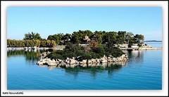 (k.kounalaki) Tags: travel blue trees sea sun tree beach nature water colors beautiful reflections landscape island greek colours village harbour greece anawesomeshot