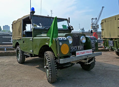 Military Police Landrover at Chatham (Beer Dave) Tags: classic army military police chatham vehicle british landrover