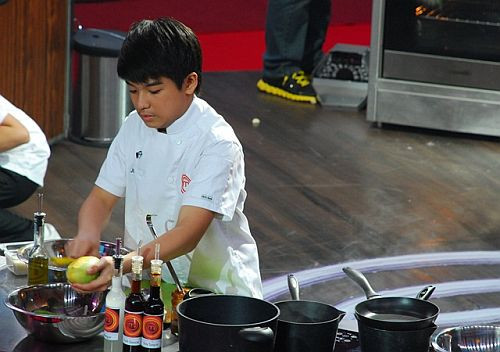 Jobim prepares his dream dish, Ricardo, at the Junior MasterChef Pinoy Edition The Lice Cook-off