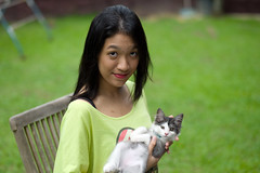 Steffi & Yo-Yo (* Hazman Zie *) Tags: leica cat 50mm f14 kitty summilux m9 summilux50mm leicam9