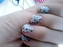 Bolinhas_Azuis (CassiLoveRock) Tags: unhas nailart unhasdecoradas unhadecorada