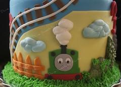 Thomas Train Face 1 (Divine Sweets by Martha) Tags: boys gumpaste traincake thomasthetraincake kidscake