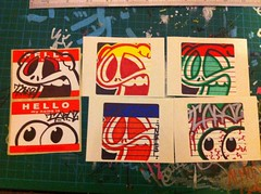 Stickers (tapaz_art) Tags: street streetart graffiti sticker stickerart stickers tapaz