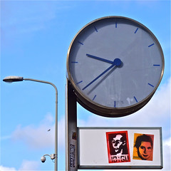 10:GU (on the left) (Akbar Sim) Tags: streetart holland clock netherlands poster stencil sticker stickerart nederland denhaag thehague straatkunst reti streetstickers plakart akbarsimonse 10gu akbarsim