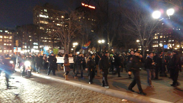 Front of the Occupy march #F28