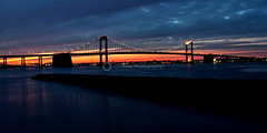 Throgs Neck Bridge Golden Hour (Avas Photography) Tags: nyc longexposure bridge sunset sky ny bronx queens magichour goldenhour throgsneckbridge newyorkbridges newyorkcitybridges throgsneckbridgeatnight