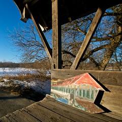 The Little Bridge on the Bridge (jcbwalsh) Tags: bridge vermont centre covered vt sanborn lyndonville