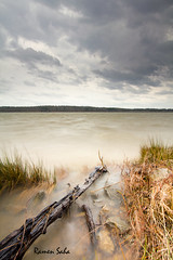 The Wind-torn (Ramen Saha) Tags: longexposure lake storm water wind lakecrabtree stormyday manualhdr varinduo ramensaha