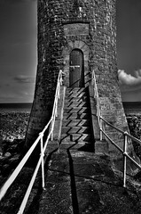 Chaine Tower (John_Images) Tags: ireland blackandwhite northernireland hdr countyantrim antrimcoast larne chainetower