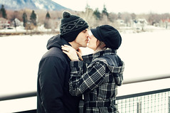 Kiss on The Richelieu river (Justine VDH) Tags: winter wedding snow love engagement kiss couple hiver amour mariage baiser fianailles