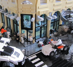 NATO Operation Diamondshark (3) (Andreas) Tags: urban lego manhattan fifthavenue combat scenes gunship