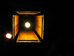 Wooden light ( Spice (^_^)) Tags: wood light black color art lamp yellow canon dark geotagged photography lights photo wooden flickr image powershot february ilaw 2012  saitamaken g12  itim     shiraoka     gettyimagesjapan12q1