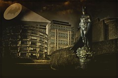 The Caped Crusader (Mark Barrett.) Tags: city building buildings nikon comic bat batman layers gotham d5000