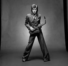 Bowie Sax (c)MickRock (Glam in the Gutter) Tags: david bowie saxophone
